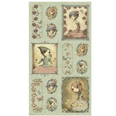 Mirabelle Panel by Santoro, 13 by 9 in pictures on Sage, Gorgeous!