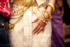 Cambodian Wedding wearing beautiful gold dress and jewelry - Chantal Brown Photography Laos Wedding, Phuket Wedding, Khmer Wedding, Wedding Attire, Wedding Dresses, Thai Traditional Dress, Traditional Outfits, Traditional Weddings, Tatoo