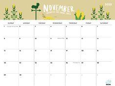 Cute November 2020 Calendar with Holidays November Calendar 2019, November Printable Calendar, Excel Calendar, Printable Calendar Template, Diy Calendar, Blank Calendar, Print Calendar, Calendar Design, Free Printables