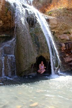 Fifth Water Hot Springs Waterfall: This has to be one of my favorite waterfalls located near Spanish Fork! This waterfall is just plain bizarre: the waterfall is ice cold, but there is a little cave under it with a warm spring Utah Vacation, Vacation Places, Vacation Spots, Places To Travel, Places To See, Vacations, Travel Things, Vacation Ideas, Utah Adventures