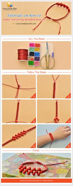 #Beebeecraft tutorial on how to make #bracelet with #woodbeads and #thread