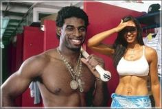 His divorce drama is outta control, but Deion Sanders is funny to listen to.