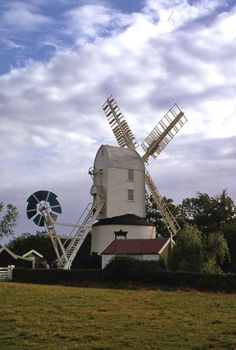 Original 35mm Slide Windmill Saxtead Green, Suffolk Oct 1974