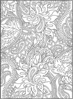 Dover Publications Free Paisley Coloring Pages