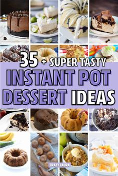 Check out the 35 best Instant Pot dessert recipes you need to try! Pressure Cooker Desserts, Slow Cooker Recipes, Crockpot Recipes, Cooking Recipes, Multi Cooker Recipes, Pressure Cooking, Best Instant Pot Recipe, Instant Pot Dinner Recipes, Cheesecake Recipes