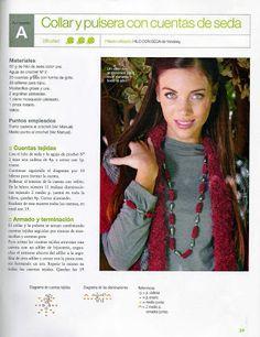iKnitts: Tejer a Crochet un Collar y pulsera de seda hacien...