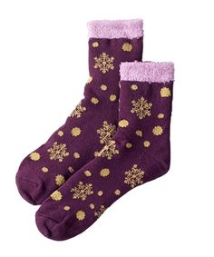 Women's Aloe Vera Double Layer Snowflake Sock from Woolrich on shop.CatalogSpree.com, your personal digital mall.
