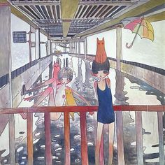 aya takano - blend aspects of manga, anime, and traditional art with their own idiosyncratic visions to create work that is international in appeal yet uniquely Japanese. Nara, Pretty Art, Cute Art, Aya Takano, Superflat, Art Folder, Funky Art, Chef D Oeuvre, New Wall