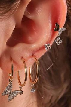 Ear Jewelry, Trendy Jewelry, Cute Jewelry, Jewelery, Jewelry Accessories, Women Jewelry, Jewellery Earrings, Trendy Accessories, Gold Jewelry