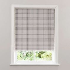Styled with a contemporary grey check pattern to suit a variety of decors, this blackout roller blind provides added privacy while preventing unwanted natural l. Sage Kitchen, Cleaning Materials, Roman Blinds, Roller Blinds, Pattern Fashion, Gray Color, Contemporary, Grey, Check