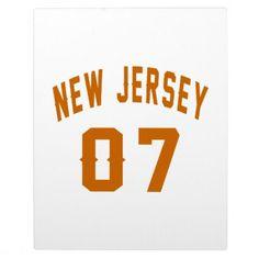 #New Jersey  07 Birthday Designs Plaque - #birthday #gift #present #giftidea #idea #gifts