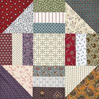 Texas Circle Around by Lynn Roddy Brown from Quiltmaker's 100 Blocks Volume 1, newly reprinted and available now.