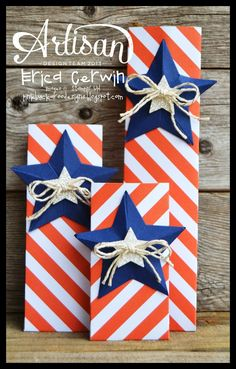 Patriotic Treat or Firecracker Holders by Erica Cerwin