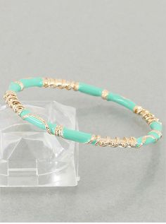 Mint Paulina Bangle from P.S. I Love You More Boutique. shop online at: psiloveyoumore.storenvy.com