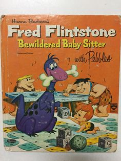 Hanna-Barbera's Fred Flintstone Bewildered Baby-Sitter With Pebbles