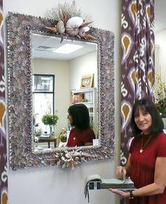 """Scallops"" 38"" x 56"". Beveled mirror. Available at Nancy Dyer Interiors Satellite Beach Fl. 321-622-6242"