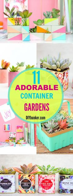 These 11 Container Gardens Are So INSPIRING! I love all the options from big to small and store bought to recycled!