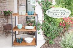 Building an outdoor beverage cart has never been easier and this industrial beverage cart is stunningly beautiful and useful and so easy to make yourself.