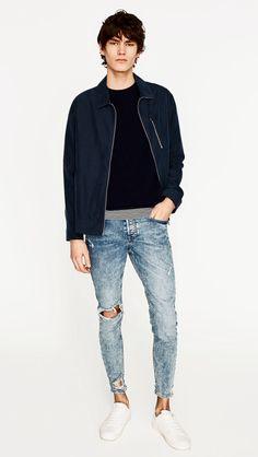 raw edge skinny zara jeans