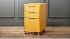 TPS marigold 3-drawer filing cabinet | CB2