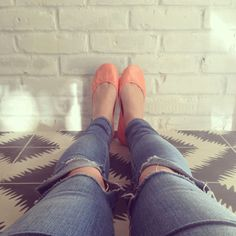 Swooning over these Coral @Tieks by Gavrieli by Gavrieli.