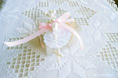 The souvenirs for the guests  of this charming pink batism party