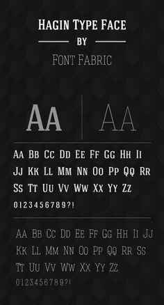 Hagin Typeface for free @ http://fontfabric.com