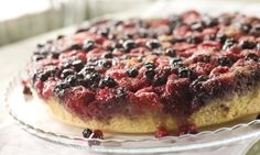 "The raspberry-blueberry Berry Upside Down Cake I developed for Relish Magazine... June-July"" This is its moment: *the* time of year to make it. Very very rockin'... simple as can be and SO good. AThough I say it myself, not to be missed."