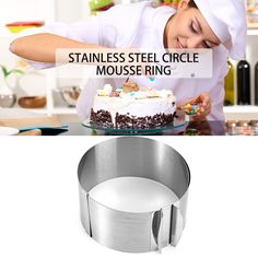 [US $6.90] tangchu 1 Pc Retractable Stainless Steel Circle Mousse Ring  #circle #mousse #retractable #ring #stainless #steel #tangchu