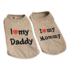 Eastlion Pet Shirt I Love Mommy / I Love Daddy /I Love Mommy And I Love Daddy Dog T-Shirt * Learn more by visiting the image link.