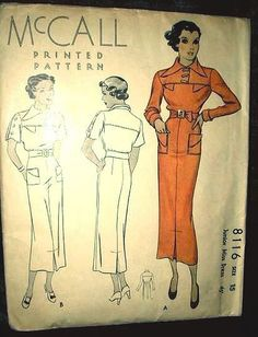 McCall 8116 | ca. 1935 Junior Miss Dress