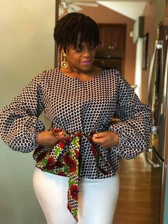 50 Ankara Asoebi Styles for Christmas - Ankara Lovers African Fashion Ankara, Latest African Fashion Dresses, African Print Fashion, African Print Dress Designs, Short African Dresses, African Blouses, African Tops, Look Blazer, African Traditional Dresses