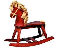 Wooden Rocking Ride On Rocker Horse Pretend Play Toy Toddler Preschool New