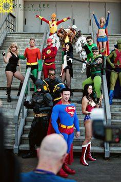 DC Cosplay Superman, Supergirl, Wonderwoman, Batman, Zatanna, Aquaman, Flash, Black Canary, Green Lantern, Green Arrow, Martian Manhunter and more