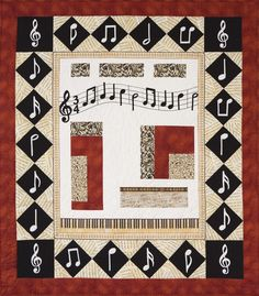 'In Tune' by Lorraine Simmons & Witches in Stitches Quilt Group. Auckland Quilt Guild Inc. 2014 Festival of Quilts.