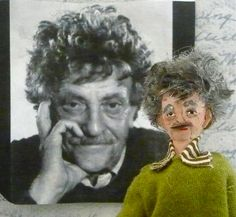 Give the gift of Kurt Vonnegut (in tiny doll form). So cool. $41 I WANT HTIS RIGHT NOW.