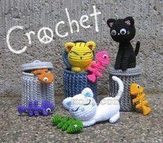 gatos con basura