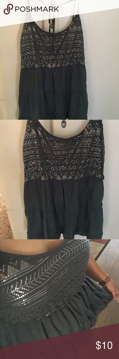 Tokyo darling sequin tiered tie-back tank Used good condition made in China large size very cute , All item comes from Smoke Free   Pet Free home  If any question pls don't hesitate to ask. Happy poshing Aeropostale Tops Tank Tops