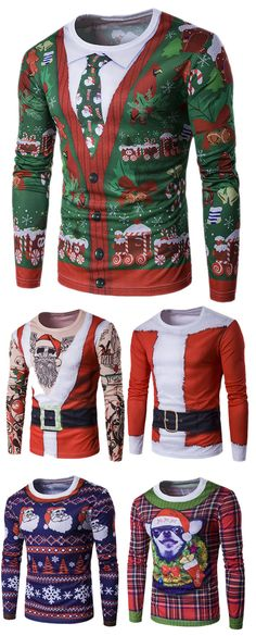Shop t-shirts for men on sale with wholesale cheap price and fast delivery, and find more best cool mens long sleeve t shirts & bulk mens t-shirts online with drop shipping. Christmas Is Coming, Christmas And New Year, Winter Christmas, Christmas Holidays, Holiday Fun, Tacky Christmas Sweater, Ugly Sweater Party, Christmas Stockings, Christmas Clothes