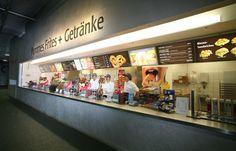 Kiosk Allianz Arena München Soup Bar, Signage Design, Digital Signage, Canteen, Kiosk, Digital Marketing, Infographic, Photo Wall, Graphic Design