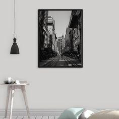 Cityscape Photography, Landscape Print, Street Wall Art, Metropolis, Black and White, Wall Decor, Architecture Print, Digital Download