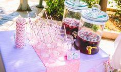 Fresh sour cherry juice station!