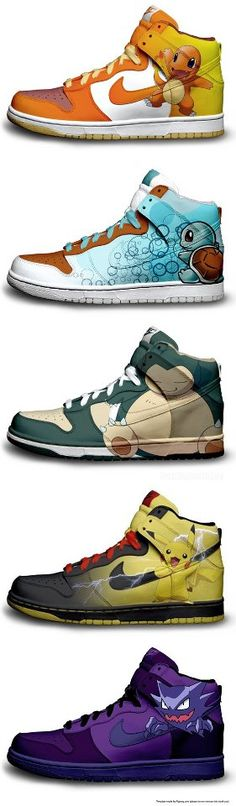 Awesome kicks.Pokemon shoes.