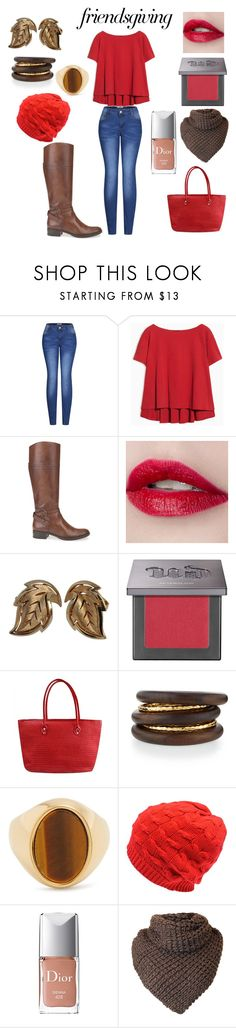 """""""friendsgiving"""" by mayamaya269 ❤ liked on Polyvore featuring 2LUV, Max&Co., Geox, Trifari, Urban Decay, NEST Jewelry, Chloé and Christian Dior"""