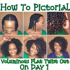 Flat twist out tutorial