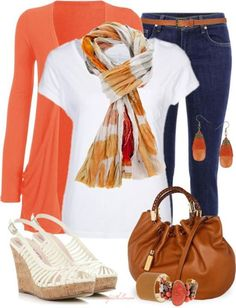 Pair your organic white t shirt from www.wearyourwisdom.org with a statement scarf