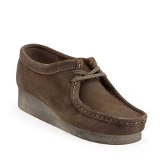 Wallabee-Women in Taupe Distressed Leather - Womens Shoes from Clarks