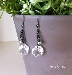 Dangly Chandelier Crystal Earrings
