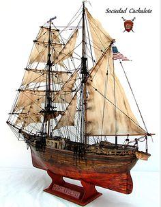 """Mary Celeste"" Mary Celeste, Ghost Ship, Model Ships, Tall Ships, Sailboat, Sailing Ships, Sailing Yachts, Models, Boat"