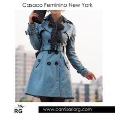 Casaco Feminino New York. Apenas R$154,90 Confira mais de 50 modelos em Promoção! www.camisariarg.com/casaco-feminino-azul-07aa.html